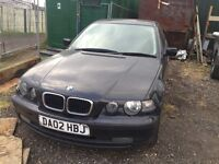 BMW 3 series e46 compact black 1.8 petrol manual breaking for parts / spares