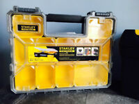 Large Stanley deep pro organiser&tool box,quick sale for both at only £40,immaculate,1 month old