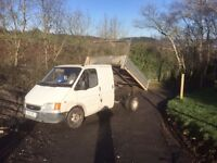 Ford transit tipper crew cab new engine