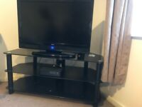 TV stand black great condition