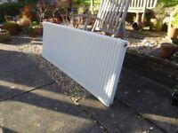 Single panel radiator with TRV.