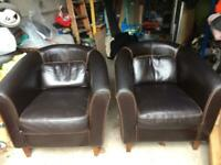Leather chairs