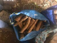 Hardwood logs, Seasoned, stored for 3+ years IKEA blue bag Weigh just over 20k