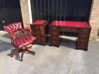Chesterfield captains chair desk filer (delivery available)