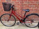 Adult's Red Bike with Detachable Basket and Gears