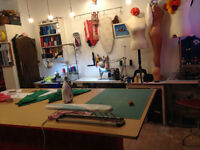 studio/workshop space to rent by the hour - perfect for classes