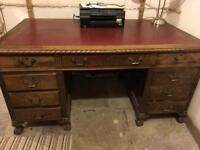 Large vintage office desk