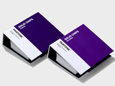 Pantone Chips Coated Uncoated. With 294 New Solid Colours. New 2019 Version