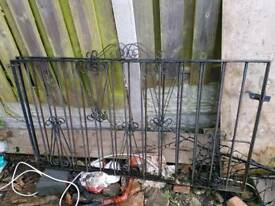 "Wrought Iron Gates - 57"" x 32"""