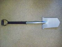 Metal Detector Spade silver finished stainless