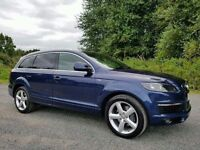 Audi Q7 3.0 TDI S LINE 240bhp 7 SEATER! SAT-NAV, ONLY ONE OWNER! BEAUTIFUL EXAMPLE! FBASH!