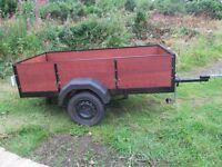 trailer 750kg 8x4 non braked