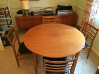 1970s Retro G Plan Extending Table and Four Chairs