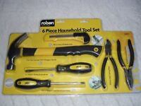 ROLSON QUALITY TOOL SET - NEW IN SEALED PACKAGE - 6 PIECES