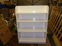 Sturdy white painted bookcase