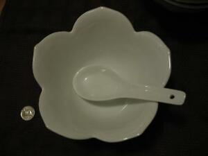 Lotus bowls with matching spoons (set of 4) London Ontario image 2