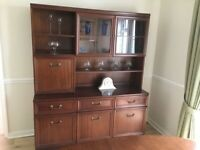 FREE to collect. Dark wood display cabinet unit