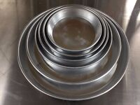 """NEW ALUMINUM 7"""" PIZZA PAN CATERING COMMERCIAL FAST FOOD RESTAURANT TAKE AWAY KITCHEN BAR"""