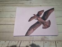 HAND MADE CANVAS BIRDS FLYING HIGH