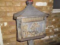 Antique Victorian Post Box