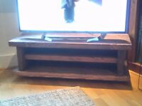 Handmade rustic solid tv unit/table