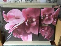 3 part floral Next canvas. 150cm by 100cm.