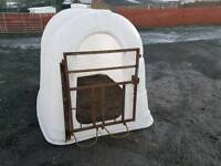 Calf rehearing shelter hutch or pig ark tractor farm