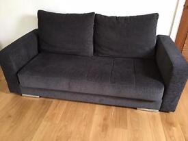 Nearly new 200cm sofa - charcoal grey