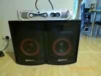 Amplifier miltec MTA800 & 2x Stage Line SP-250PA 10 Inch Bass-Midrange Speaker Drivers 500W
