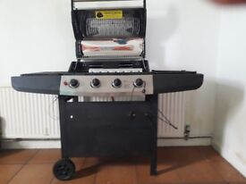 Ultar 4 Burner Gas family BBQ 635 x 420 mm grill enamel coated grill, excellent condition £75 ono