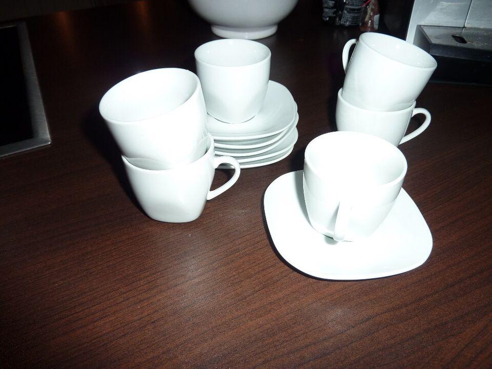 Retsch Arzberg Angelina 6 Espresso Tassen und Unterteller in