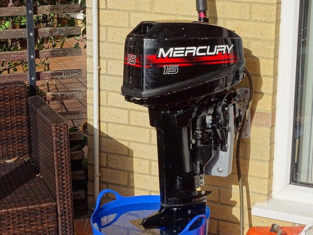 15 HP Mercury 2-stroke outboard engine | in Poole, Dorset | Gumtree