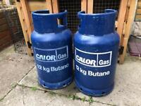 Calor butain 12Kg 2 bottles both half full