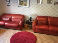 Incanto leather sofas top quality 3 seater 2 seater and lat foot stool