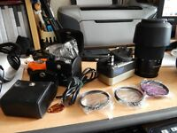 SONY A 200 DSLR WITH 2 LENSES AND EXTRAS.