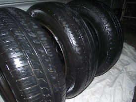 185/65/14 NEARLY NEW TREAD x 3 ( £30 )