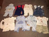 Baby boy clothes bundle age 0-3 months : 45 items