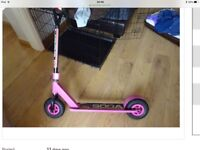 Pink soda girls scooter large wheels