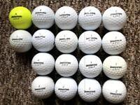 18 Bridgestone golf balls very good condition, tour 330, E6, E5, Soft