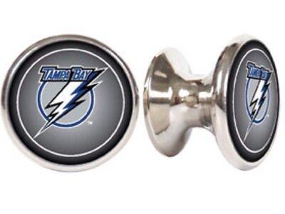 Tampa Bay Lightning Cabinet - TAMPA BAY LIGHTNING NHL DRAWER PULLS / CABINET KNOBS