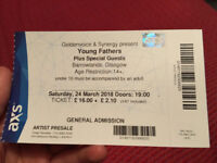 "1 Ticket To See ""Young Fathers"" In Glasgow Barrowlands, This Saturday 24th March"