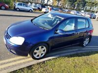 Volkswagen Golf 1.9 TDI Sport, Diesel, 5 Door Manual, Hatchback Blue, 2005, 88518 miles.2195 London