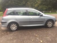PEUGEOT 206sw ESTATE 2.0 HDI LOW MILES NOT VW FORD RENAULT CITROEN VAUXHALL NISSAN TOYOTA CHEAP CAR