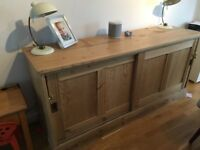 Antique wood sideboard