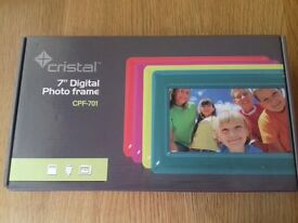 Brand new in box purple digital photo frame