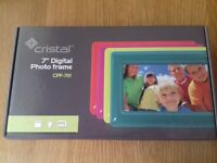 Brand new in box purple digital photo frame