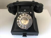 ORIGINAL MID CENTURY BAKELITE PHONE IN BLACK. REWIRED. GREAT CONDITION