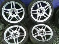 "18"" merc replica alloy wheels 5/112 fit mk5/6/7 golf Passat etc"