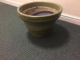 Glaze plant pot