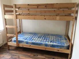 Wooden bunk bed great condition!